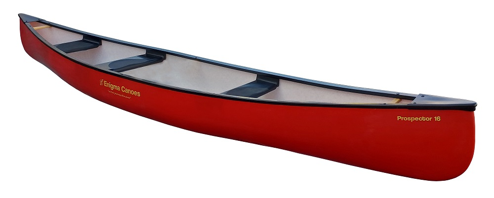 Enigma Canoes Prospector 16 with 3 x Plastic PE Seats - Great for hire and rental outlets, activity centres, canoe clubs, tour operators and commercial uses.