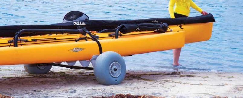 Hobie Kayak Launching Dolly With Beach Wheels Hobie Trolleys