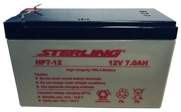 12v 7ah sealed lead acid rechargeable battery fish for Fish finder battery