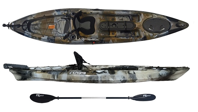 Enigma Kayaks Fishing Pro 12 in the Camo Colour - Fishing Kayak