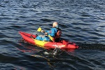 Paddling a Feelfree Roamer 1 Sit-On-Top Kayak