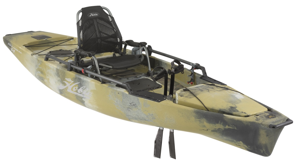 Hobie pro angler 14 2018 mirage drive pedal kayaks for Fishing kayak with pedals