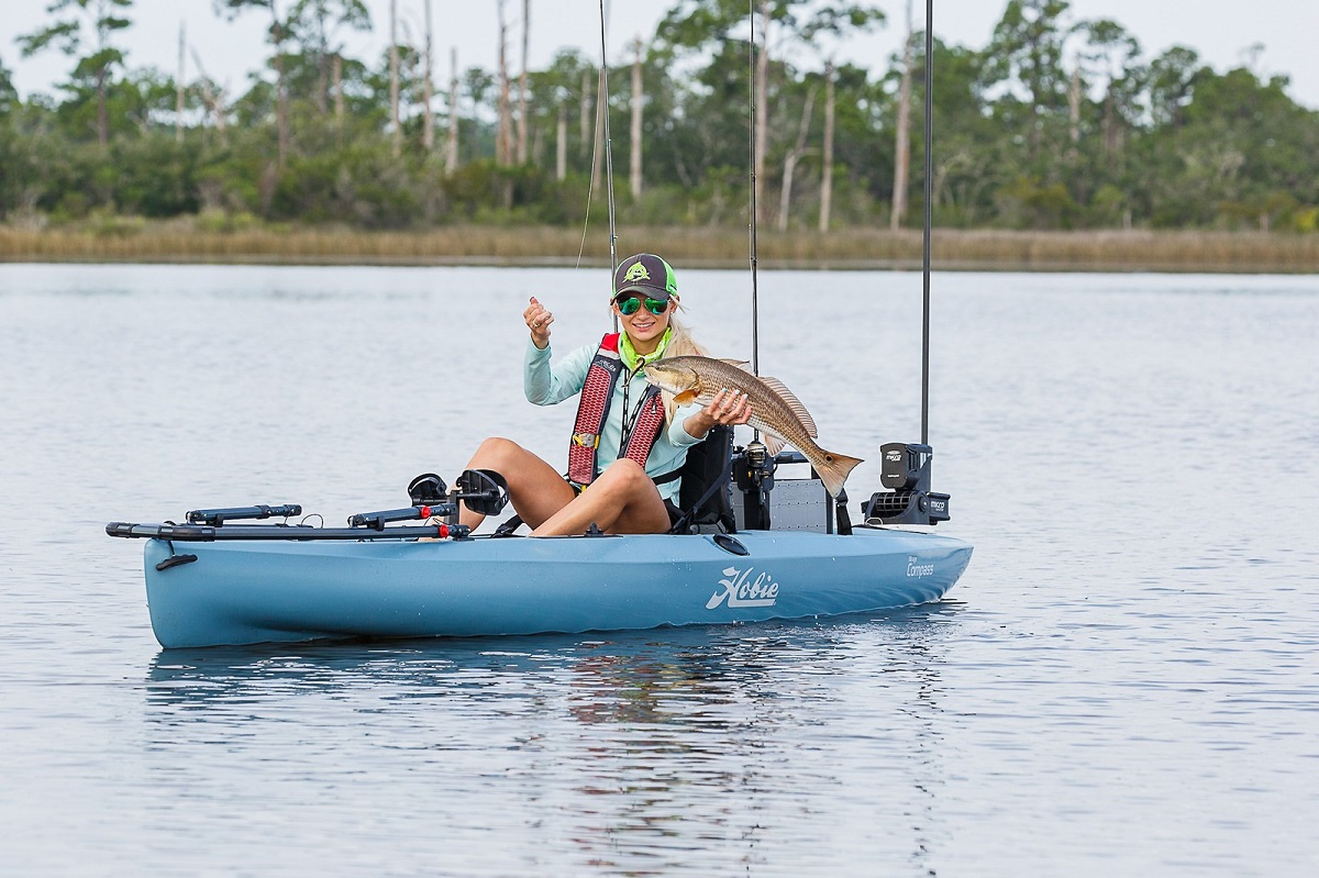 Hobie mirage compass 2018 mirage drive pedal kayaks for Hobie kayak fishing