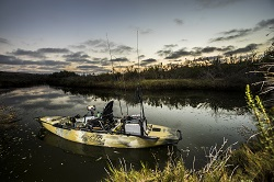 A Camo Pro Angler 14 loaded up with fishing gear