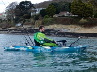 Andrew from Cornwall Canoes fishing from the Feelfree Moken 12.5 Angler