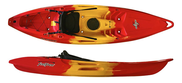 Nomad Sport Sit On Top by Feelfree Kayaks in Lava