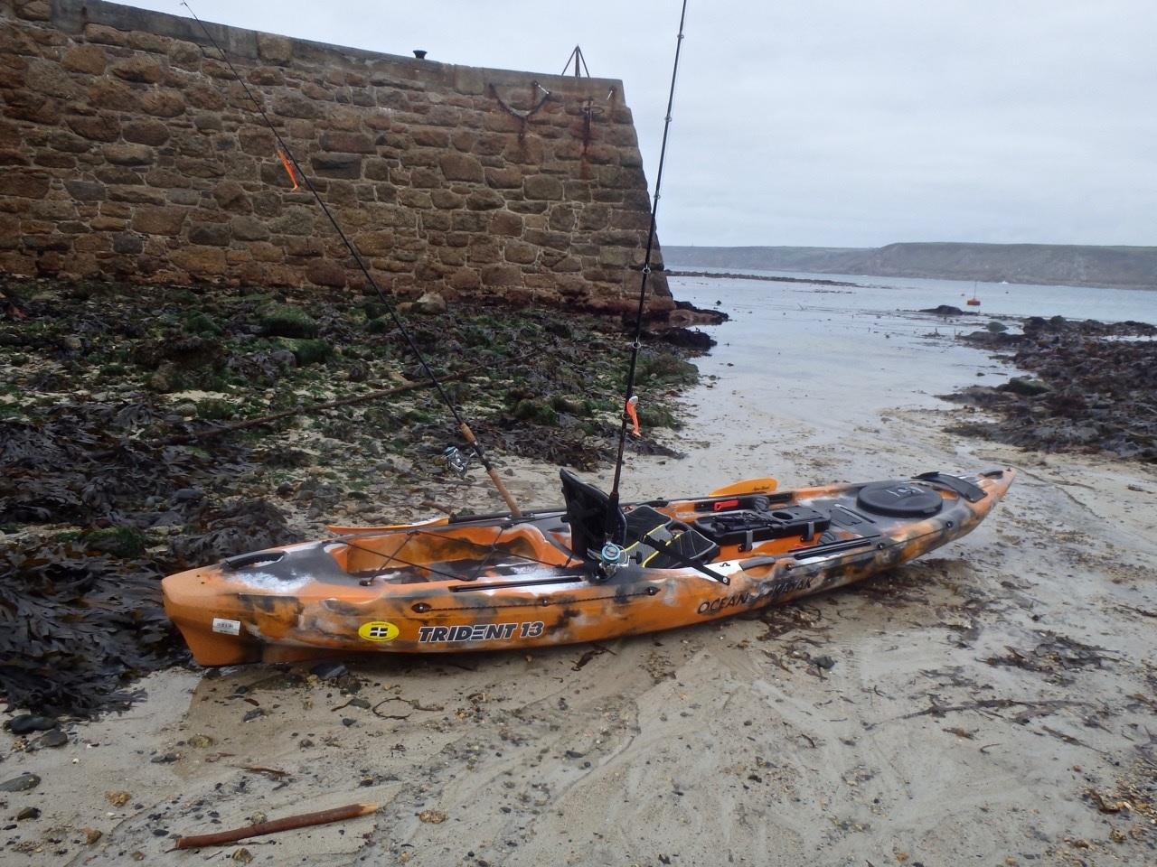 Ocean kayak trident 13 2017 sit on top kayaks for Ocean kayak fishing