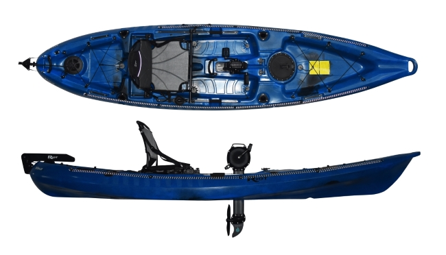 Riot Mako 12 with Impluse Drive - Pedal Drive Fishing Kayak