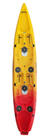 Viking Tempo 2 Double Fishing Kayak in Red/Yellow