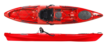Wilderness Systems Tarpon 120 E Sit On Top Kayak Red