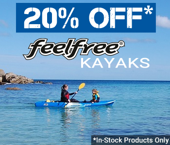 20% OFF RRP On All In-Stock Feelfree Kayaks at Norfolk Canoes