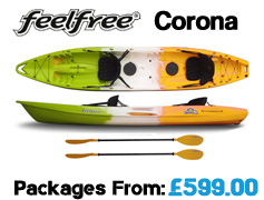 Feelfree Corona Family Tandem Sit On Top Packages from £629 available at Brighton Canoes