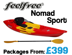 Feelfree Nomad Sport Sit On Top Packages from £399 available at Brighton Canoes
