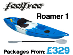 Feelfree Roamer 1 Sit On Top Packages from £299 available at Brighton Canoes
