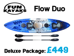 Fun Kayaks Flow Duo Tandem Sit On Top Packages from £399 available at Brighton Canoes