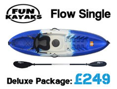 Fun Kayaks Flow 1 Persion Sit On Top Packages from £249 available at Brighton Canoes
