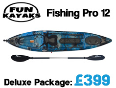 Fun Kayaks Fishing Pro 12 Sit On Top Kayak Packages from £399 available at Brighton Canoes