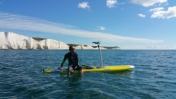 Hobie Mirage Eclipse 12 SUP - Rob from Brighton Canoes showing how stable the board is